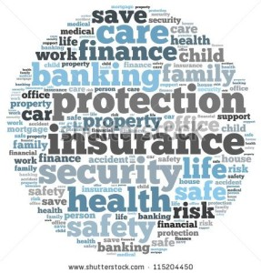 Business Insurance Blue Word Cloud