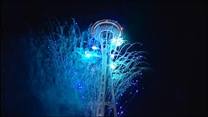 Fireworks by the Space Needle