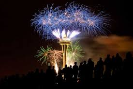 The Space Needle with Fireworks