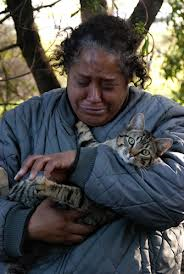 Homeless Woman with a Cat